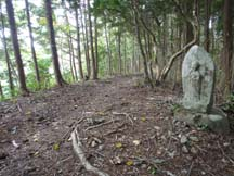 One of many Kannon statues along the trail