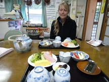 Breakfast in Japan is not what we're used to!