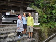 With the proprietor of Minshuku Mandokoro