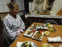 Dinner at Minshuku Momofuku