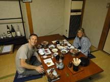 Dinner at Minshuku Wakatake